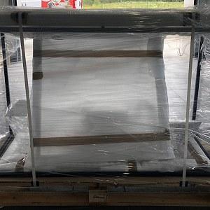 Przesyłki 3 palety do Francji. Wymiary 140x60x90 cm. Łączna waga 210 kg