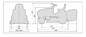 Transport kosiarki samojezdnej