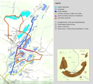 mapa trasy rowerowej lubuskie
