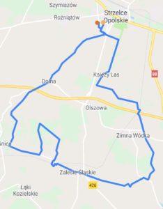 trasa rowerowa opolskie mapa
