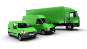 Transportation fleet in green
