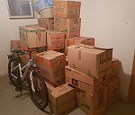 31 parcels,  1 bicycle , 4 car tyres